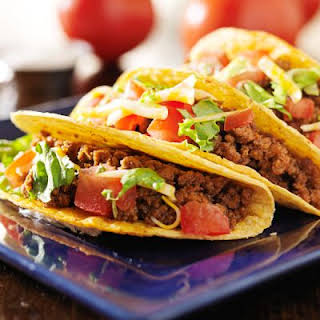 Tender Crockpot Ground Beef Tacos.
