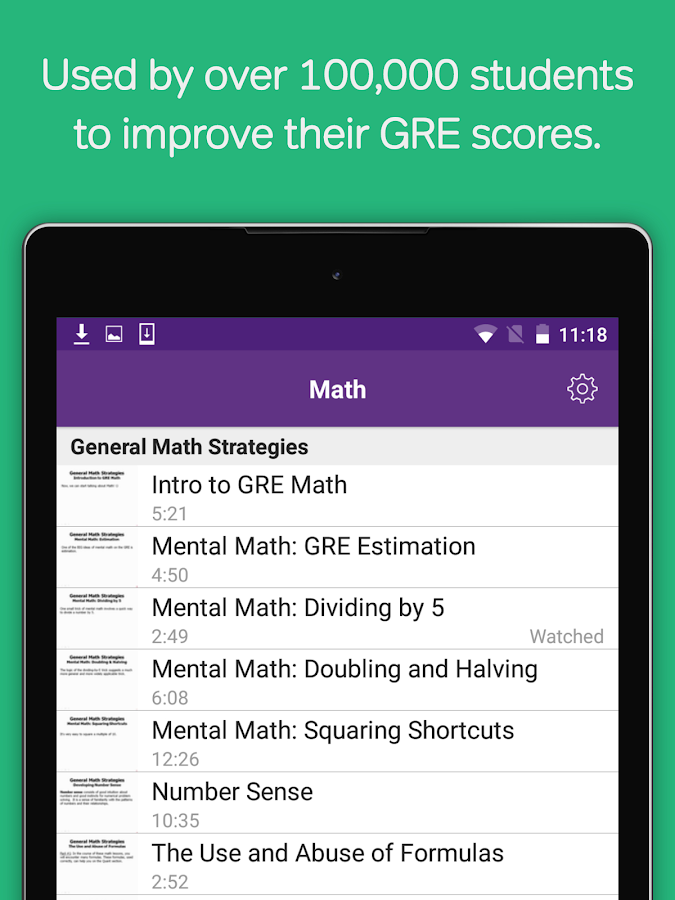 GRE Prep: Verbal, Math Course- screenshot