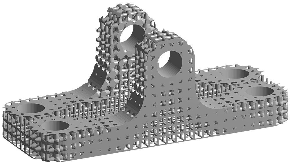 ANSYS Модель решетчатого кронштейна