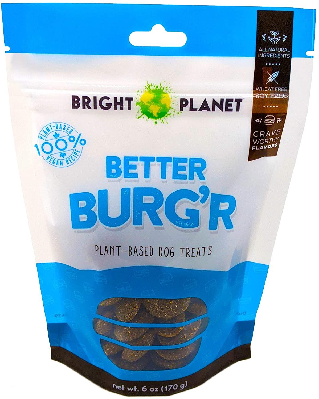 Bag of Better Burg'r dog treats