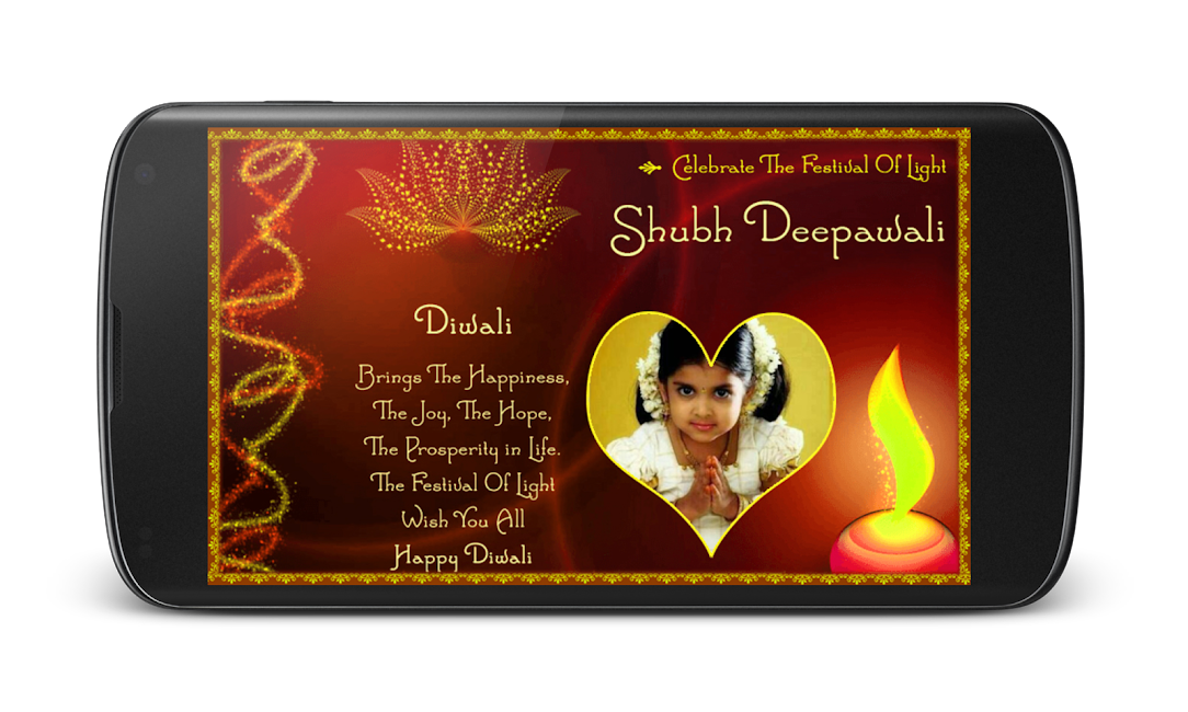 #4. Diwali Photo Greeting Frames (Android)