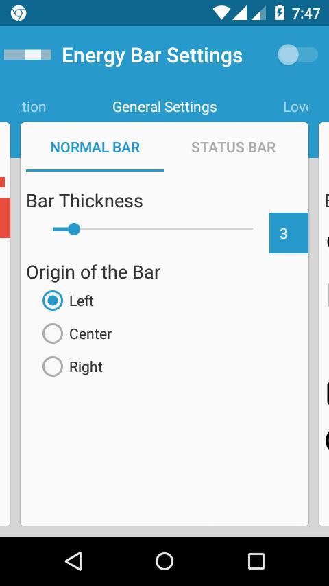 Energy Bar - screenshot