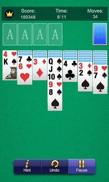 Solitaire Android App Screenshot