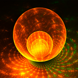 Tile Ball by Cassy 67 - Illustration Abstract & Patterns ( orange, bright, green, wallpaper, digital, love, abstract art, digital art, harmony, fractal, fractals, light, energy )