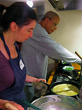 Photo: Phoebe and Bill making crepes
