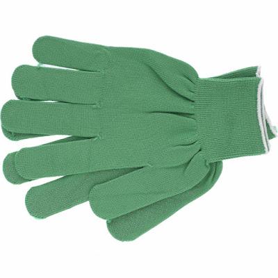 Перчатки нейлон Ми 13 класс, цвет изумрудный, L