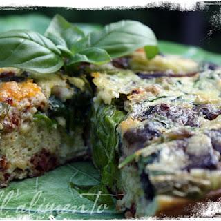 Frittata di Spinaci con Parmigiano e Funghi {Spinach & Portobello Frittata}