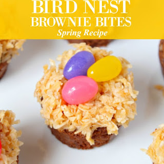 Bird Nest Brownie Bites Treat Recipe Perfect for Spring.