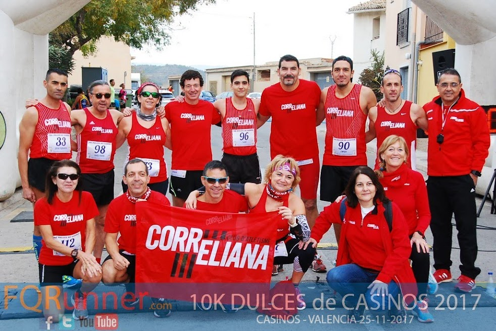 Club de Atletismo Correliana en 10K Dulces de Casinos 2017