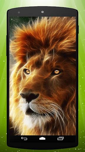 Neon Lion Live Wallpaper