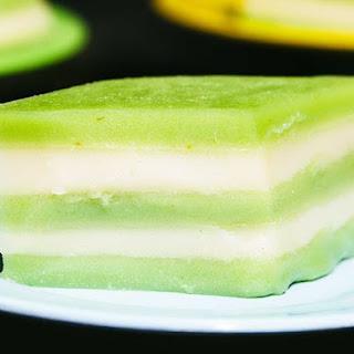 Thai Steamed Coconut-Pandan Cake (Khanom Chan).