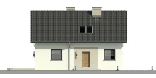 Dom przy Alabastrowej 28 - Elewacja przednia