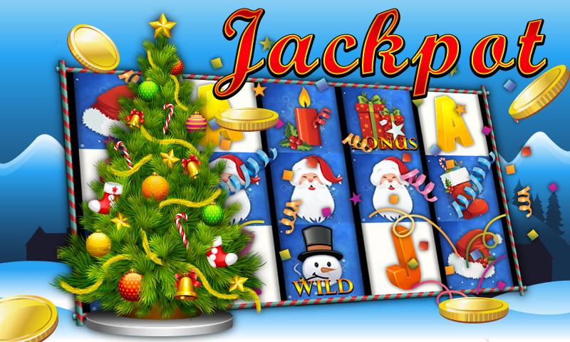 android Slot Machine Christmas Jackpot Screenshot 1