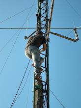 Photo: parece que se resiste a ser instalada la antenita