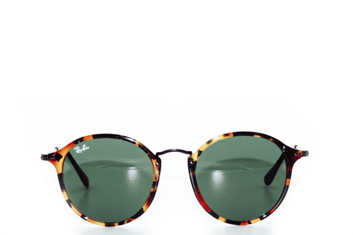 Ray Ban Round Acetate Tortoise Brown Green