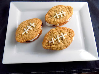 Football Oatmeal Ice Cream Sandwiches Recipe