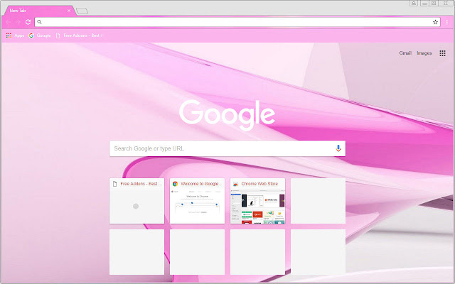 Free Addon Pink Chrome Themes