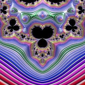 Butterfly Rainbow by Pam Blackstone - Illustration Abstract & Patterns ( butterfly, loops, spirals, butterflies, curls, lines, symmetry, buds, fractal, rainbow, necklace,  )