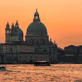 Sunrise on Venice by Pascal Bénard - City,  Street & Park  Vistas ( carnaval, venise, sunrise )