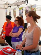 Photo: Isabelle, Gisèle et Anne, le charme du service communication.