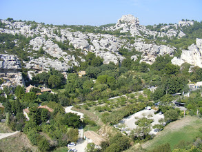 Photo: We move on now to Les-Baux-de-Provence, where the aluminum ore first discovered in the surrounding hills came to have the name bauxite, and gave rise to quite a profitable industry here in the 19th century.