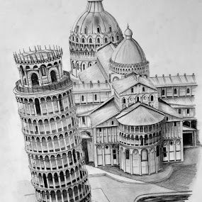 Leaning Tower by Paul Murray - Drawing All Drawing ( drawing )