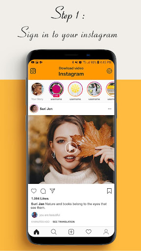 Download video for Instagram users 1.2.7 screenshots 1