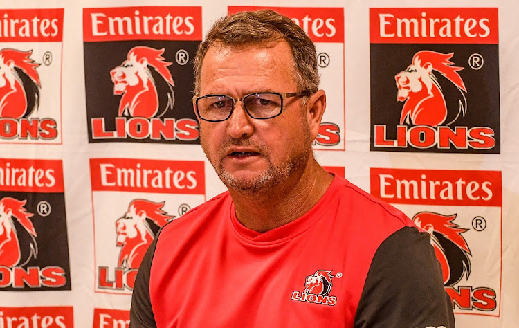 Lions coach Swys de Bruin during the Emirates Lions team announcement in Johannesburg. Picture: WESSLES OOSTHUIZEN / GALLO IMAGES