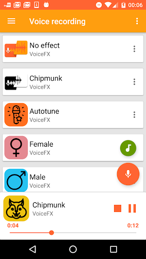 VoiceFX - Voice Changer with voice effects 1.1.0h screenshots 1