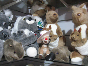 Photo: RRR and his mates: Wombat, Koala, Kangaroo, and Platypus.