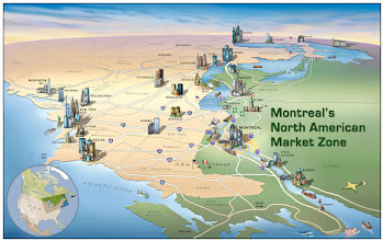 Photo: Overview of Montreal within North America (2006)