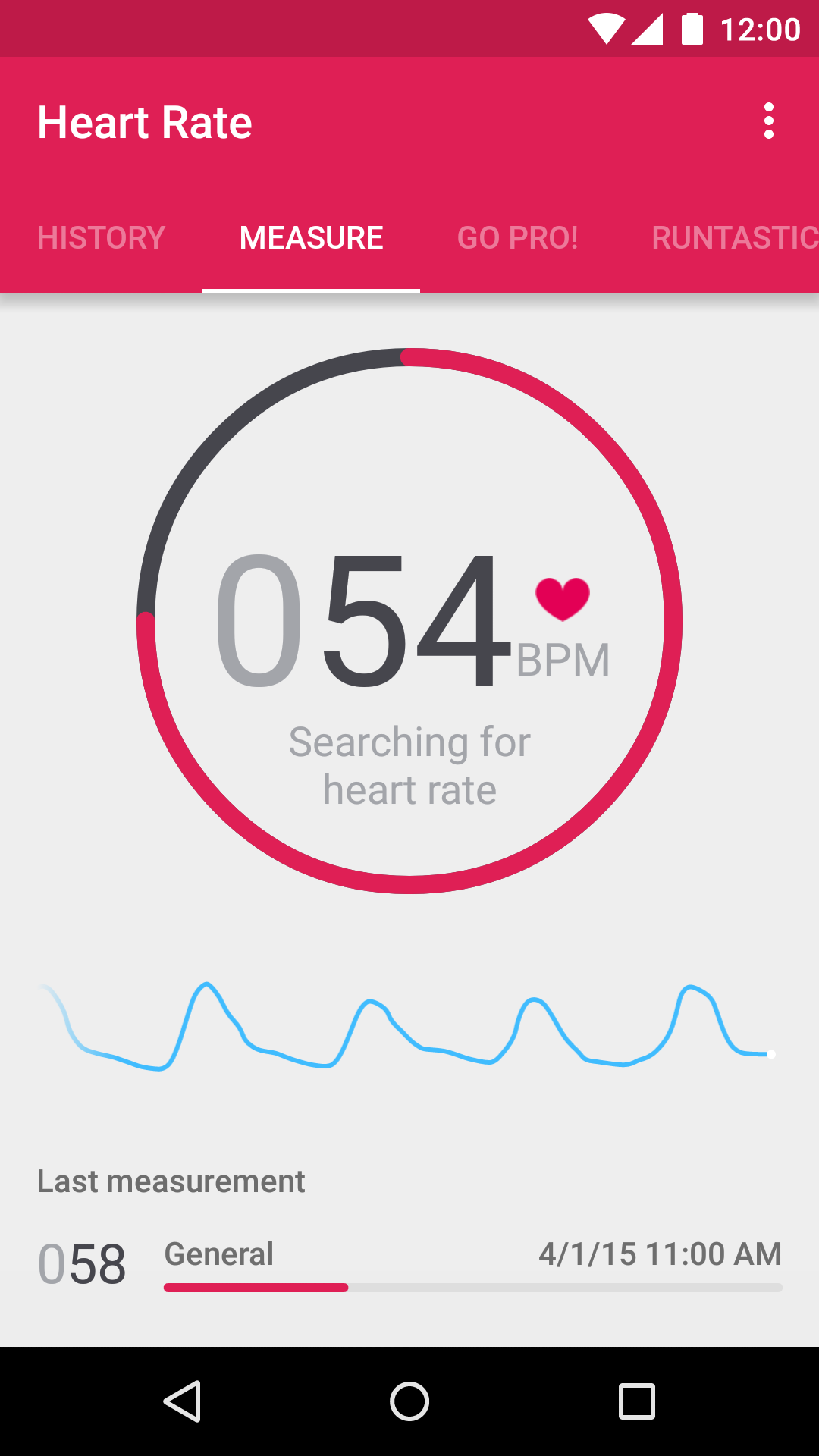 Runtastic Heart Rate Monitor screenshot #1