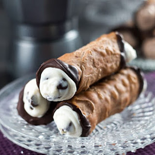 Homemade Cannoli.