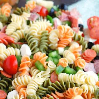 Easy Italian Pasta Salad with Pepperoni.
