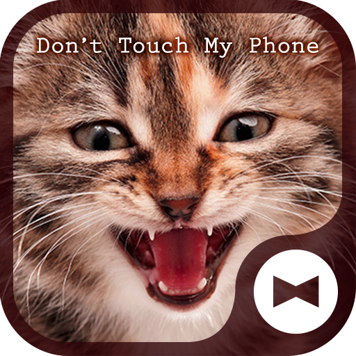 Cat Wallpaper Don't Touch My Phone Theme Icon