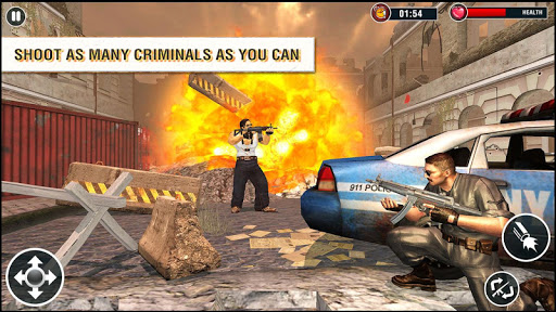 US Police Free Fire - Free Action Game 1.0 screenshots 2