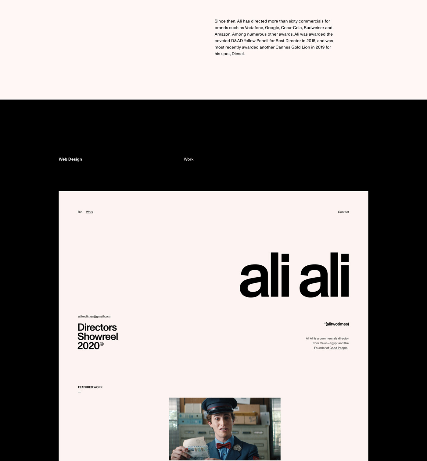 Ali Ali Simple & Well Designed New Site
