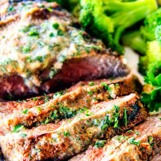 Spice Rubbed Steaks with Herb Butter (Grill or Pan Seared) Recipe