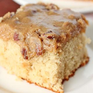 Bourbon Butter Pecan Sheet Cake