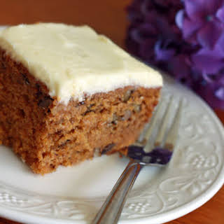 Deliciously Moist Carrot Cake.