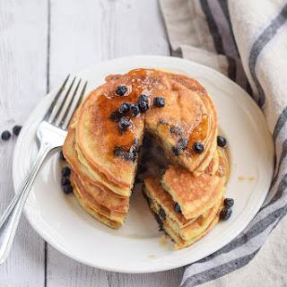 Paleo Blueberry Pancakes.