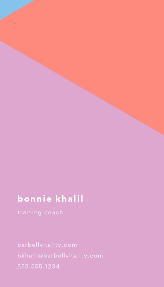 Khalil Coach Back - Business Card Template