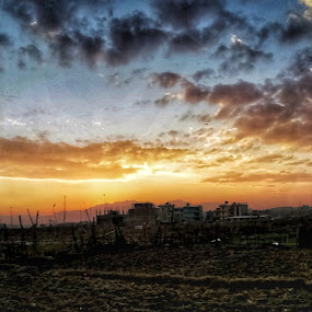 Weather View by Bikash Bajagain - Landscapes Weather ( #sunset, #mobile_photography, #sky_view )