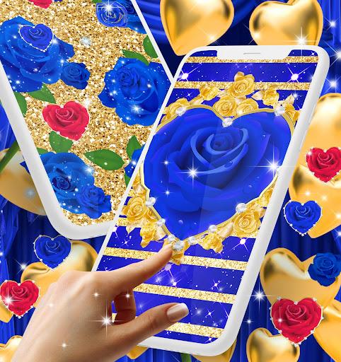Blue golden rose live wallpaper 8.1.1 screenshots 12