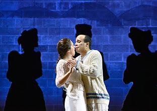 Photo: Wien/ Volksoper: ALBERT HERRING. Inszenierung Brigitte Fassbaender, Premiere 15.2.2014. Dorottya Láng, Daniel Ochoa. Foto: Barbara Zeininger