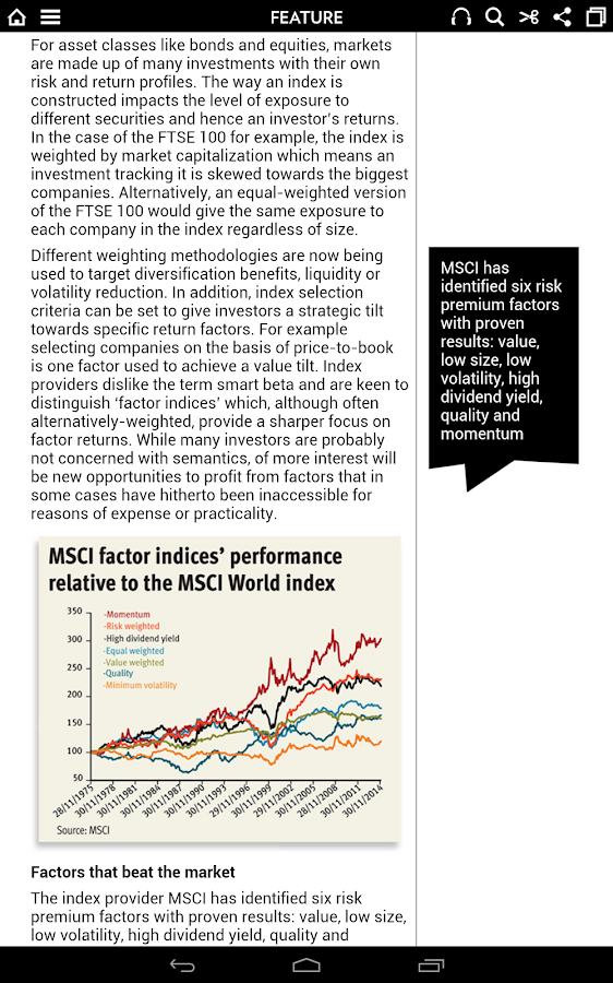Investors Chronicle magazine- screenshot