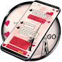 SMS Theme Love Paris ❤️ pink text messages tower APK icon