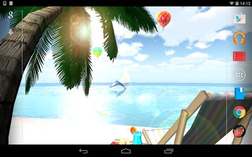OCEAN BEACH 3D ライブ壁紙