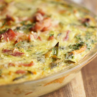 Collard Green and Bacon Frittata