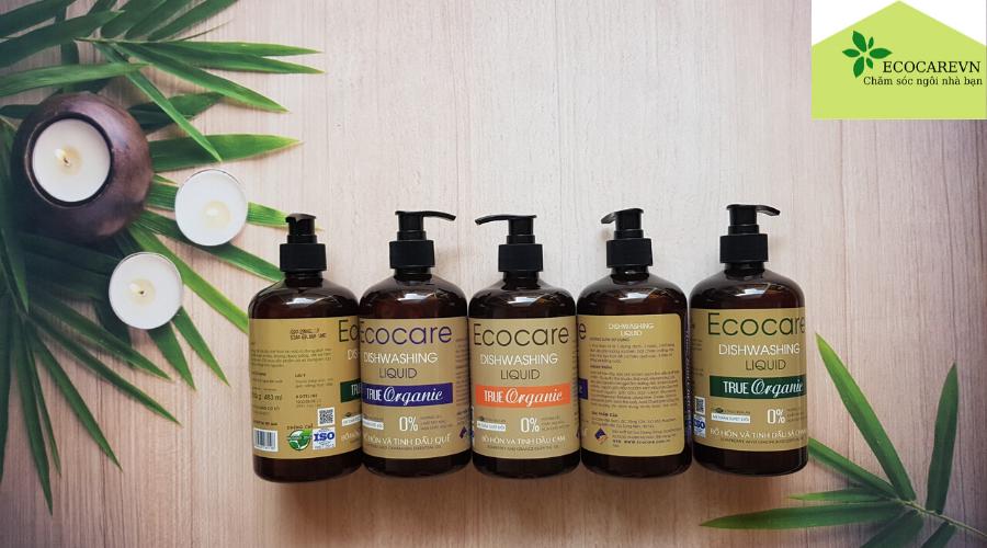 Nước rửa bát tốt nhất hiện nay Ecocare có thành phần 100% thiên nhiên